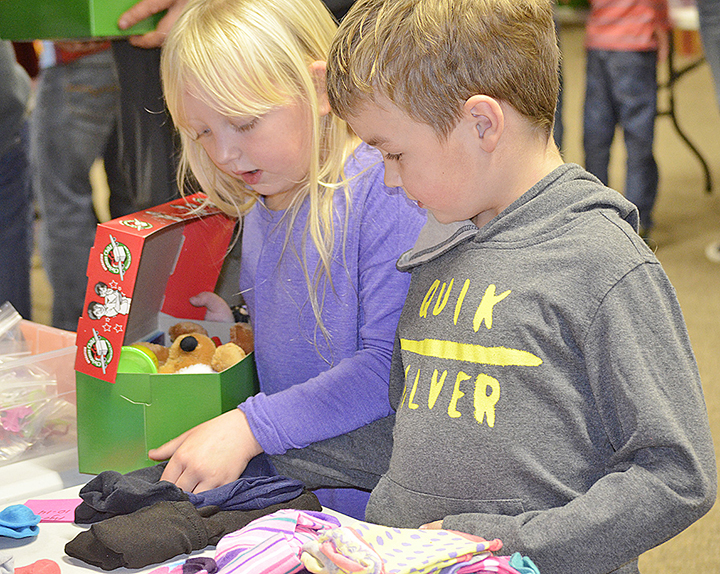 Shoe boxes are being filled for needy children